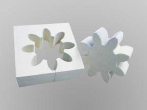 Diamantdrahtsäge sägt Filz in 2D