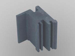 Diamantdrahtsäge sägt Graphitelektroden in 2D