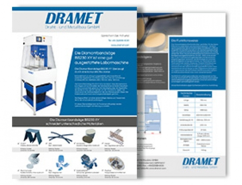 Brochure of the Diamond band saw BS230 XY