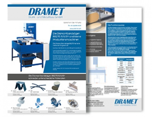 Brochure of the Diamond band saw BS270 XY