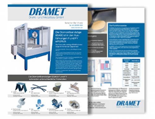 Brochure of the Diamond band saw BS400 F